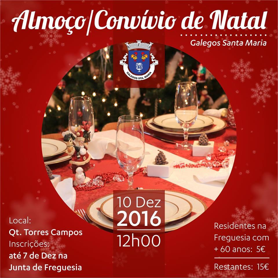 Almoço/ Convívio de Natal de Galegos Santa Maria